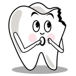 пораженный зуб