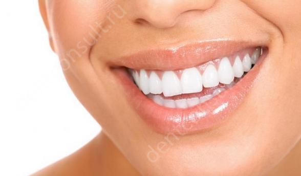 редактор отбеливание зубов