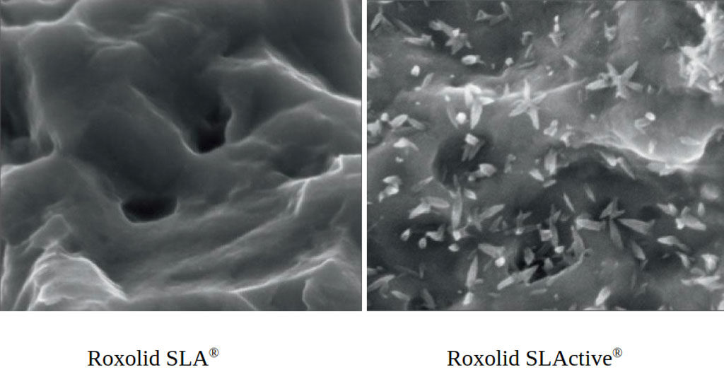 Отличие поверхнасти SLA от SLActive