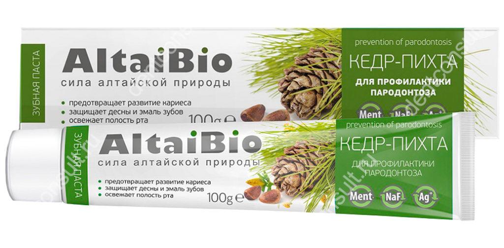 Зубная паста AltaiBio – «Кедр-пихта»